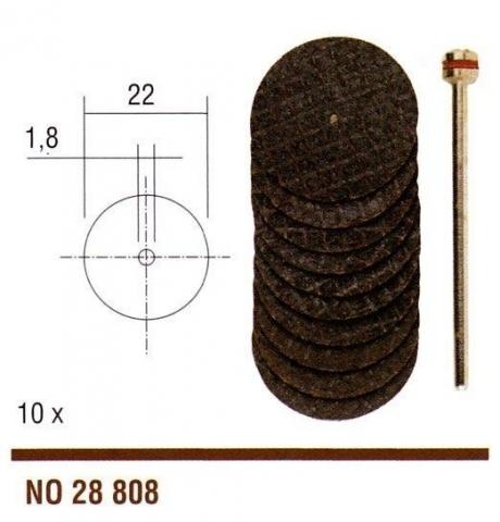 products/Армированные отрезные диски, 5 шт., 22 мм, с дискодержателем