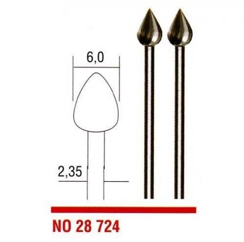 products/Вольфрам – ванадиевые фрезы, 2 поз., пламя, 6 мм