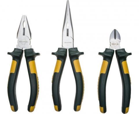 products/Набор губцевых инструментов KRAFT-MAX 3 штуки Kraftool 22011-H3