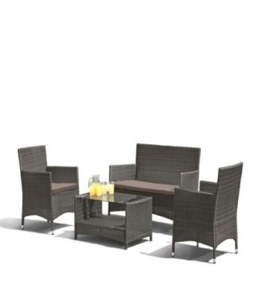 products/Комплект мебели  (иск. ротанг)  2+1+1 AFM-2025G Grey