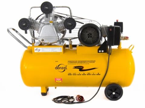 products/Компрессор воздушный Denzel PC 3/100-504, 3 кВт, 504 л/мин, 100 л, 10 бар, ременной привод, масляный (арт. 58098)