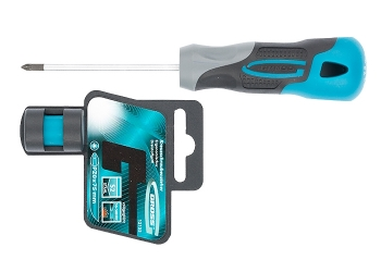 products/Отвертка PZ0 x 75 мм, S2, трехкомпонентная ручка GROSS