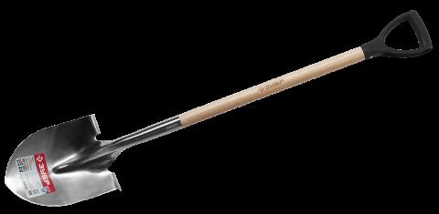 products/Лопата штыковая для земляных работ из нержавеющей стали, деревянный черенок, с рукояткой, ЗУБР Профессионал 4-39430_z01