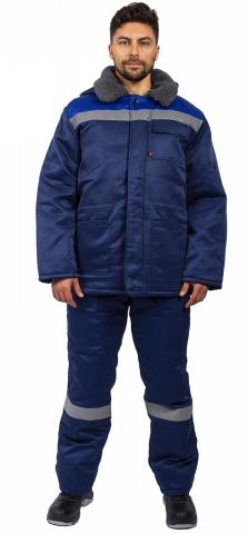 products/Куртка зимняя Бригада СОП (тк.Смесовая,210), т.синий/васильковый