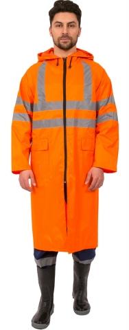 products/Плащ влагозащитный сигнальный СОП (Нейлон/ПВХ,180), оранжевый, Факел арт. 87470093