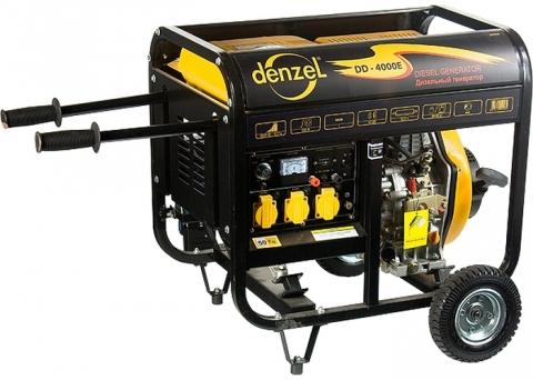 products/Генератор дизельный Denzel DD5800E, 5 кВт, 220В/50Гц, 12,5 л, электростартер (арт. 94670)