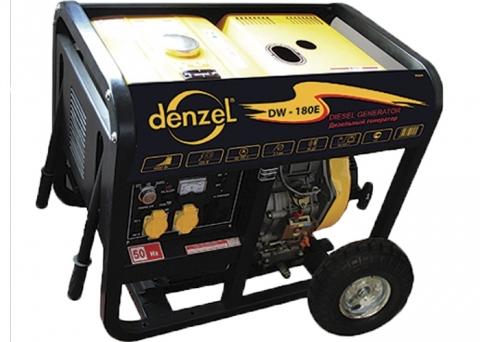 products/Дизельная сварочная генераторная установка DW180E Denzel 4,5 кВт, 220В/50Гц, 12,5 л, электростарт (арт. 94664)