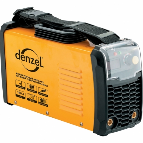 products/Аппарат инверторный Denzel MMA-180CI, 180 А, ПВР 80%, диам. эл. 1,6-5 мм (арт. 94338)