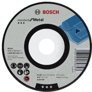 products/Обдирочный круг Bosch Standard for Metal A 24 P BF 115х6 мм по металлу, вогнутый (арт. 2608603181)