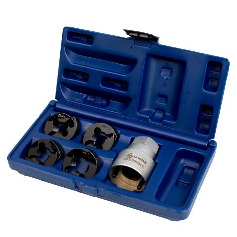 products/Набор для восстановления резьбы на колесных шпильках DAF / IVECO / MAN / RENAULT / VOLVO / MERCEDES, кейс, 5 предметов МАСТАК 352-00001C