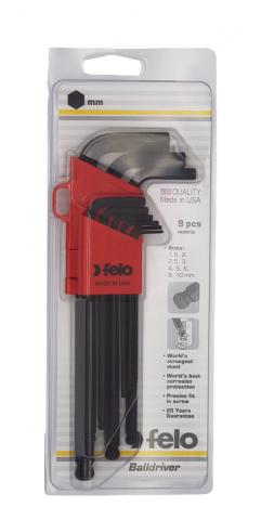 products/Felo Набор шестигранных ключей с шаровым окончанием 9 шт 35500901