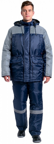 products/Куртка зимняя для инженера NEW (тк.Оксфорд), т.синий/серый
