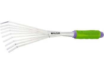 products/Грабли веерные 9-зубые, обрез. рукоятка, может использ. в сборе с ручкой 63016, 63017 PALISAD