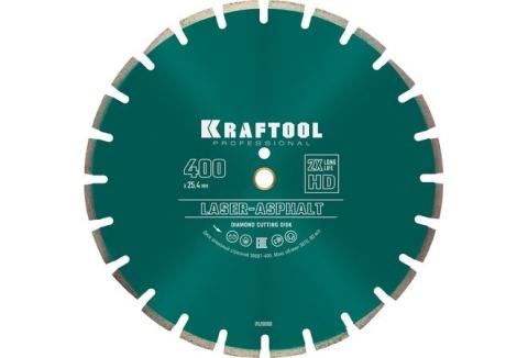 products/Диск алмазный отрезной по асфальту, свежему бетону KRAFTOOL LASER-ASPHALT 400Х25.4 мм, арт. 36687-400