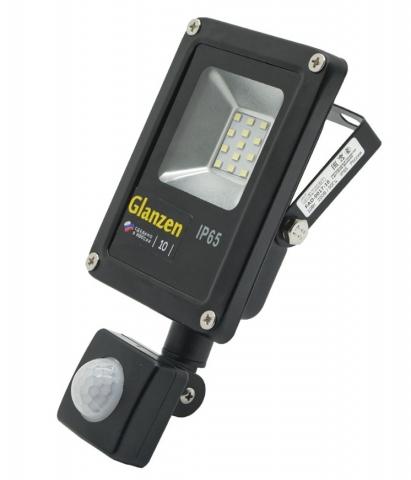 products/Светодиодный прожектор c датчиком движения GLANZEN FAD-0017-10