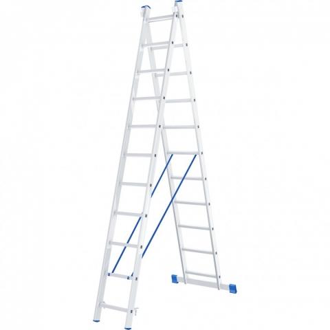 products/Лестница, 2 х 12 ступеней, алюминиевая, двухсекционная, Россия// Сибртех 97912