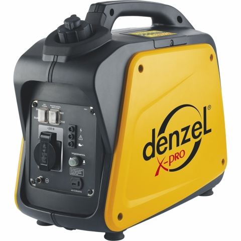 products/Генератор инверторный Denzel GT-1300i X-Pro 1,3 кВт, 220В, бак 3 л, ручной старт (арт. 94641)