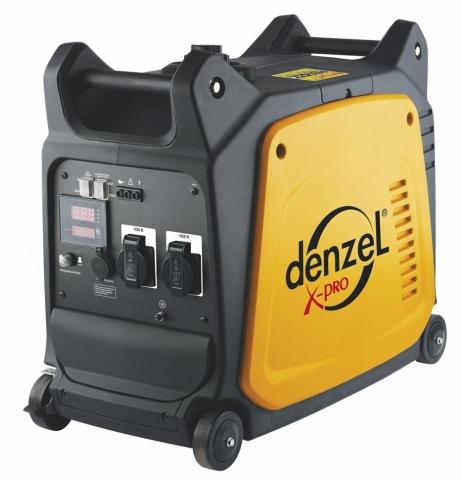 products/Генератор инверторный Denzel GT-3500i X-Pro 3,5 кВт, 220В, цифровое табло, бак 7 л, ручной старт (арт. 94644)