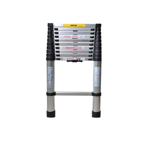 products/ Лестница телескопическая 3.2м (без чехла) SHTOK 20013