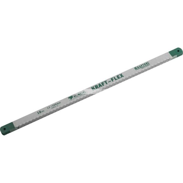 Полотно Alligator-18 по металлу, KRAFTOOL 15942-18-S50, Bi-Metal, 18TPI, 300 мм, 50 шт