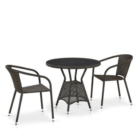 products/Комплект мебели  (иск. ротанг)  2+1 T707ANS/Y137C-W53 2Pcs Brown
