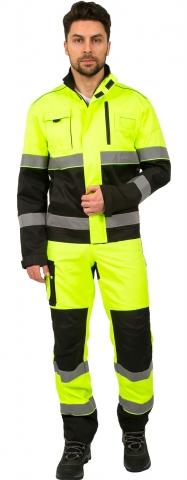 products/Костюм дорожник Сигнал-1 (тк.Балтекс,210) брюки, лимонный/черный, Факел арт. 87468326