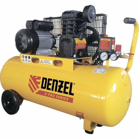 products/Компрессор воздушный Denzel X-PRO PC 2/100-400, 2,3 кВт, 400 л/мин, 100 л, 10 бар, ременной привод, масляный (арт. 58074)