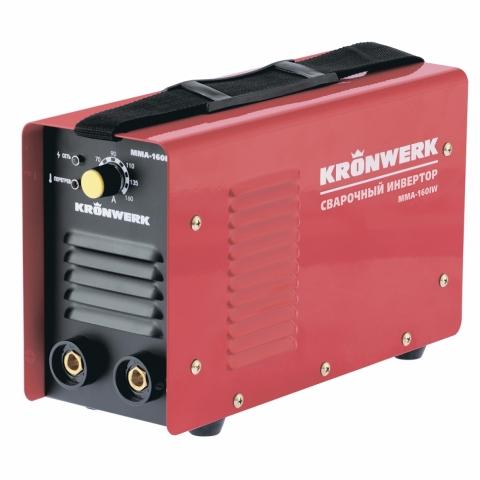 products/Аппарат инверторный Kronwerk MMA-160IW, 160 А, ПВР 60%, диам. эл. 1,6-3,2 мм, провод 2 м (арт. 94341)