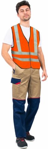 products/Жилет сигнальный Неон СОП-4 (тк.Полиэфир,100), оранжевый, Факел арт. 87472247