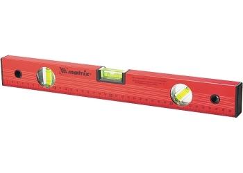 products/Уровень алюминиевый, 1200 мм, 3 глазка, красный, линейка MATRIX