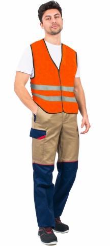 products/Жилет сигнальный Неон (тк.Полиэфир,60), оранжевый, Факел арт. 87472151