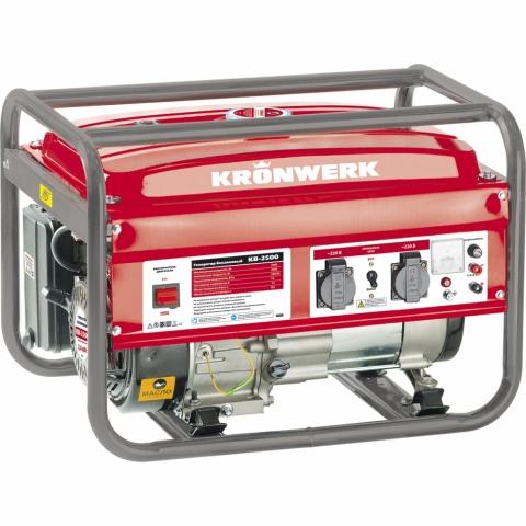 products/Генератор бензиновый Kronwerk KB 2500 2,4 кВт, 220В/50Гц, 15 л, ручной старт (арт. 94691)