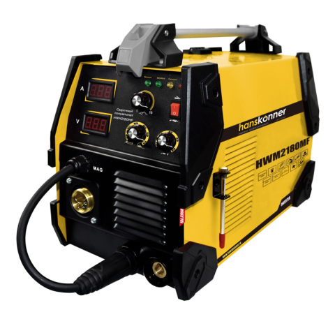 products/HWM2180MF Сварочный полуавтомат MIG/MAG 20-180 А, с функцией MMA 20-160 А, Hanskonner