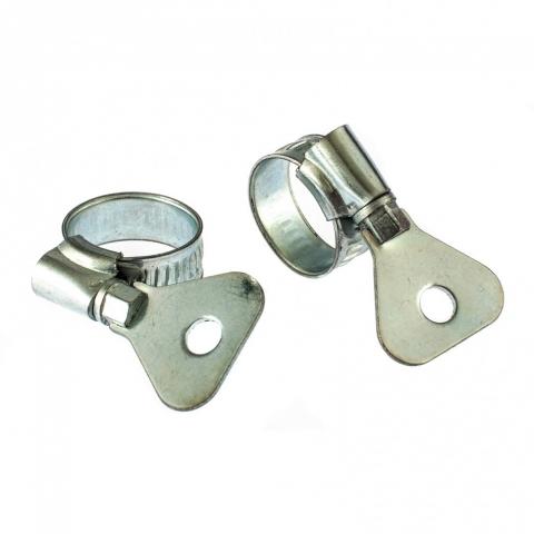 products/Хомуты металлические, червячные 10-16мм, ширина 10 мм, W1, с метал. ключом, 2 шт., Сибртех, 476487