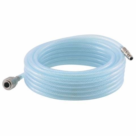 products/Шланг пневматический ПВХ, 10x16мм, 18 бар, армированный, прозрачный, быстросъемное соединение, 15 м STELS