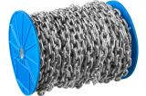 Цепь короткозвенная, DIN 766, оцинкованная сталь, d=5мм, L=45м, ЗУБР Профессионал 4-304050-05