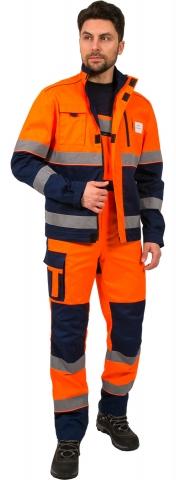 products/Костюм дорожник Сигнал-2 (тк.Балтекс,210) п/к, оранжевый/т.синий, Факел арт. 87472645