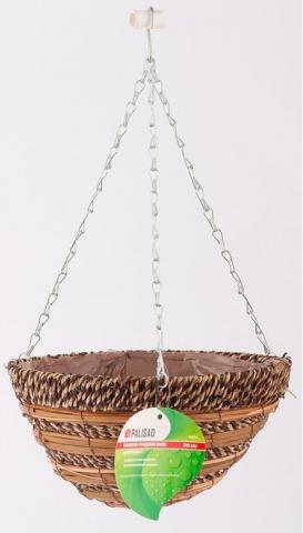 products/Кашпо подвесное Ротанг, полукруг, диаметр 30 см Palisad, 69064