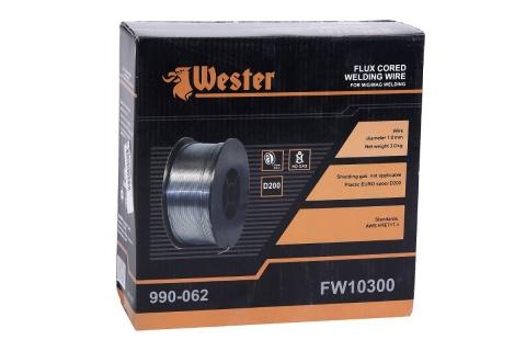 products/120408 Проволока сварочная WESTER FW 10300 Ф1 мм 3 кг, флюсовая/порошковая, катушка Ф200 мм