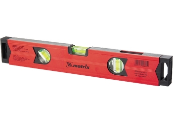 products/Уровень алюминиевый магнитный, 600 мм, фрезерованный, 3 глазка (1 зеркальный), усиленный MATRIX