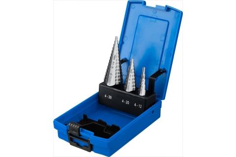 products/ЗУБР 3 шт., 4-30мм, набор ступенчатых сверл, сталь Р6М5 29670-4-30-H3_z01