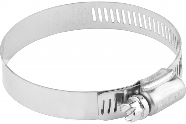 Хомуты, нерж. сталь, просечная лента 12.7 мм, 57-76 мм, 50 шт, ЗУБР Профессионал 37815-057-76-50