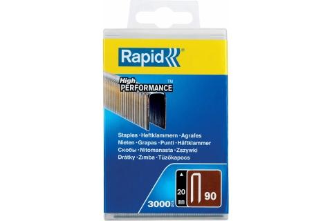 products/Скобы RAPID 20 мм узкие, супертвердые, закаленные тип 90, 3000 шт, арт. 5000123