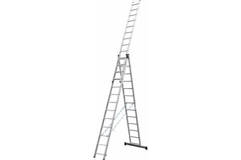 products/Лестница СИБИН универсальная,трехсекционная со стабилизатором, 13 ступеней 38833-13