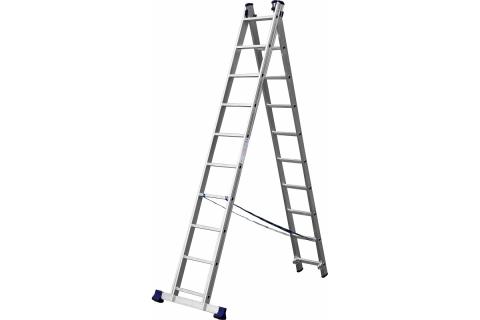 products/Лестница СИБИН универсальная, двухсекционная, 10 ступеней 38823-10