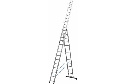 products/Лестница СИБИН универсальная,трехсекционная со стабилизатором, 14 ступеней 38833-14