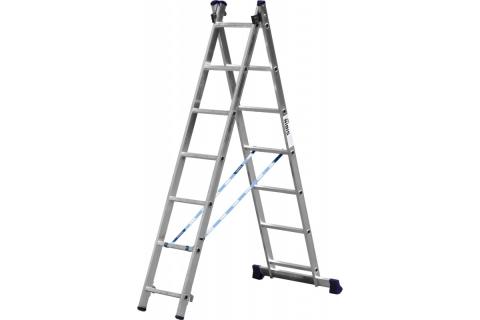 products/Лестница СИБИН универсальная, двухсекционная, 7 ступеней 38823-07