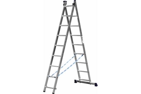 products/Лестница СИБИН универсальная, двухсекционная, 9 ступеней 38823-09