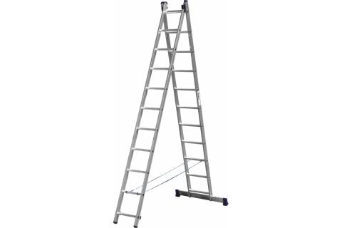 products/Лестница СИБИН универсальная, двухсекционная, 11 ступеней 38823-11