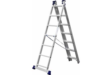 products/Лестница СИБИН универсальная, трехсекционная со стабилизатором, 7 ступеней 38833-07